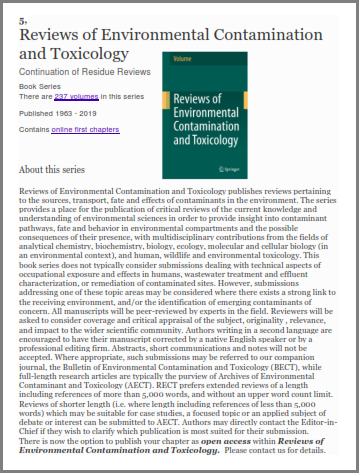 Reviews of Environmental Contamination and Toxicology: Continuation of Residue Reviews: 105